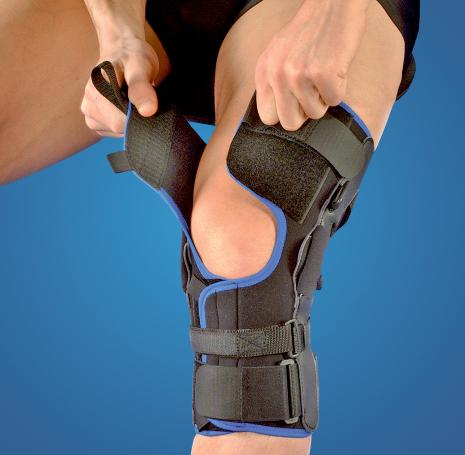 Knäskydd för sidostabilitet, översträckning och korsbandsskada Genum T3 Liga-X Ease.