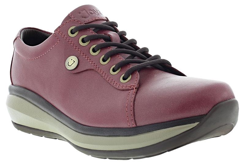 Joya sko Paris II Burgundy svart sko med mjuk sula för häl